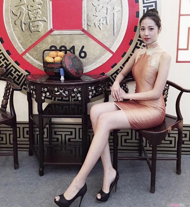 大马正妹杨祖仪,圆脸系长腿正妹