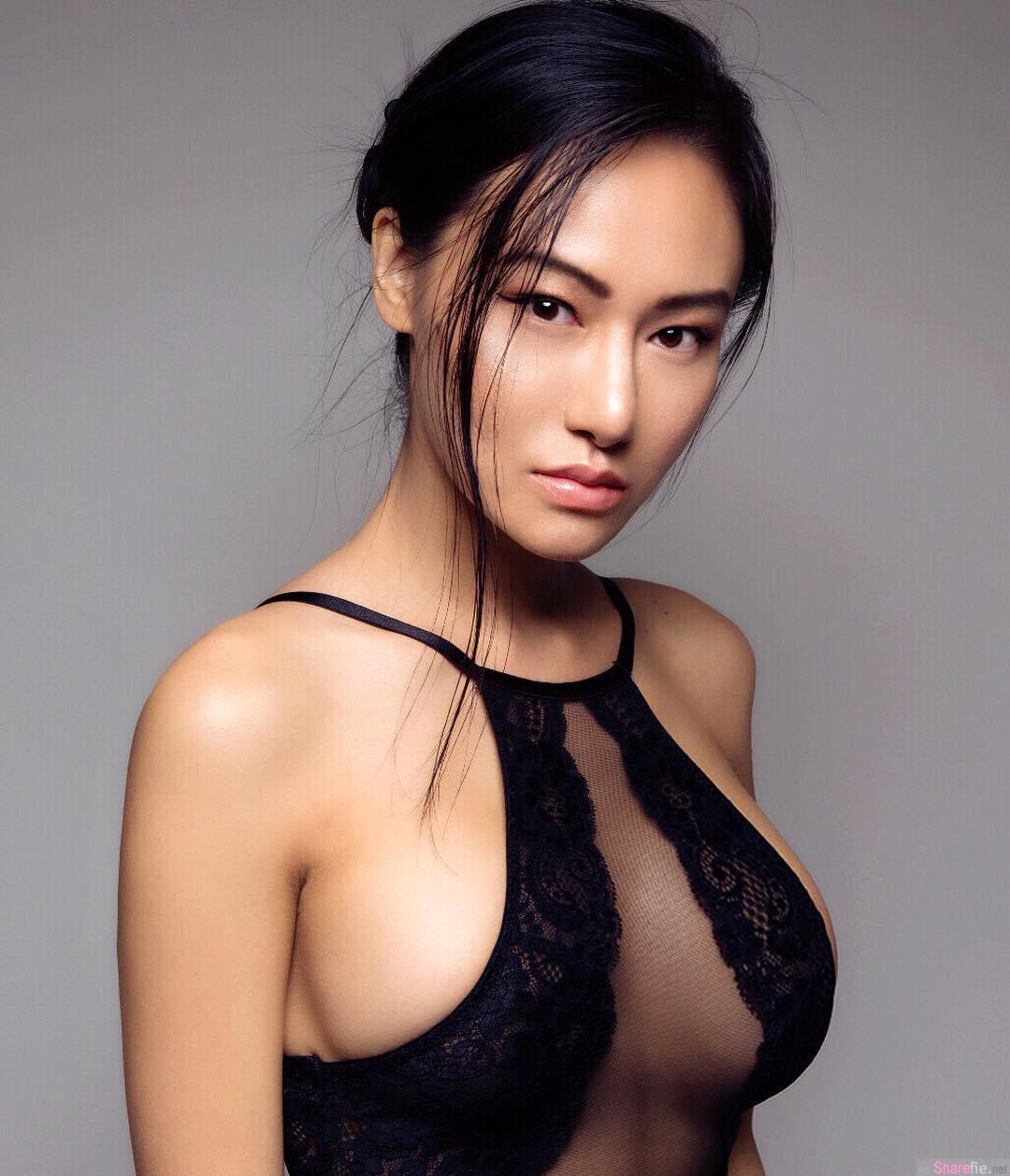 气质冷艳Anna Xiao大方展现完美曲线