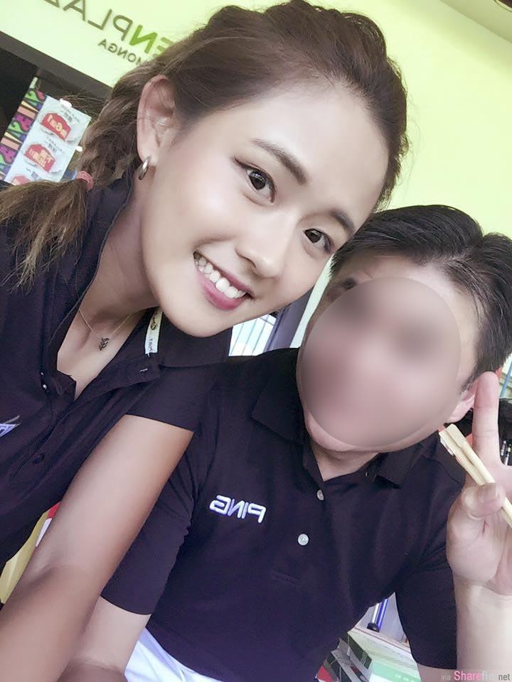 超正高尔夫球教练,甜美脸蛋,剪了短髮她变这样