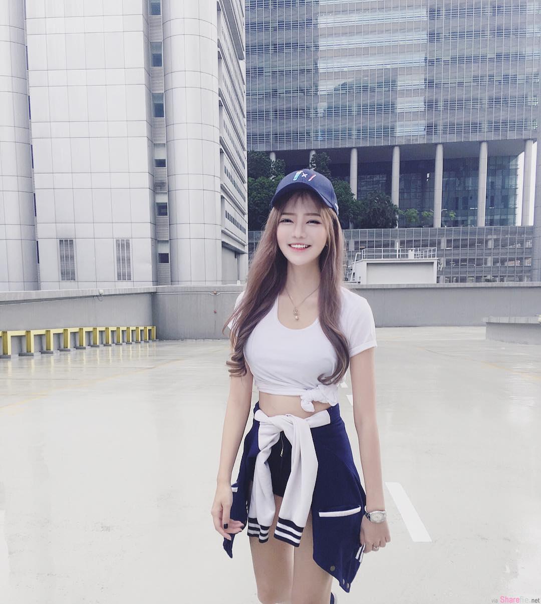 新加坡正妹王雪婷,雪白肌肤修长细腿超吸睛