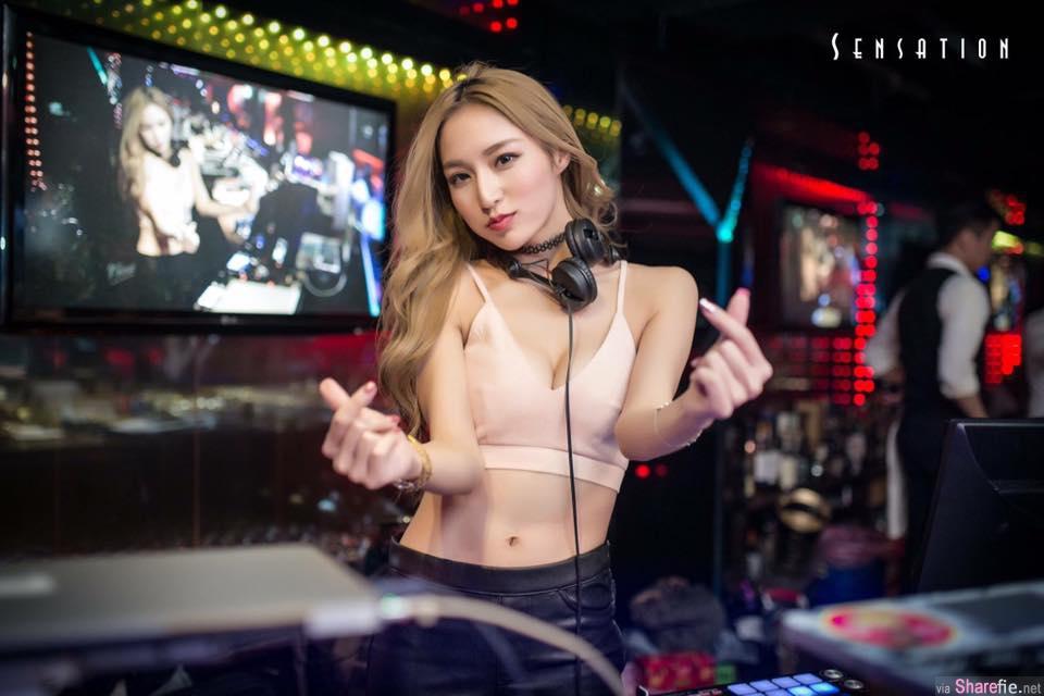 超正女DJ林佩佩,低胸清凉不科学身材让粉丝嗨起来