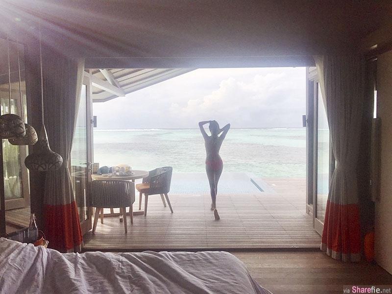 艺人赖琳恩晒出绝美比基尼,马尔代夫解放火辣身材