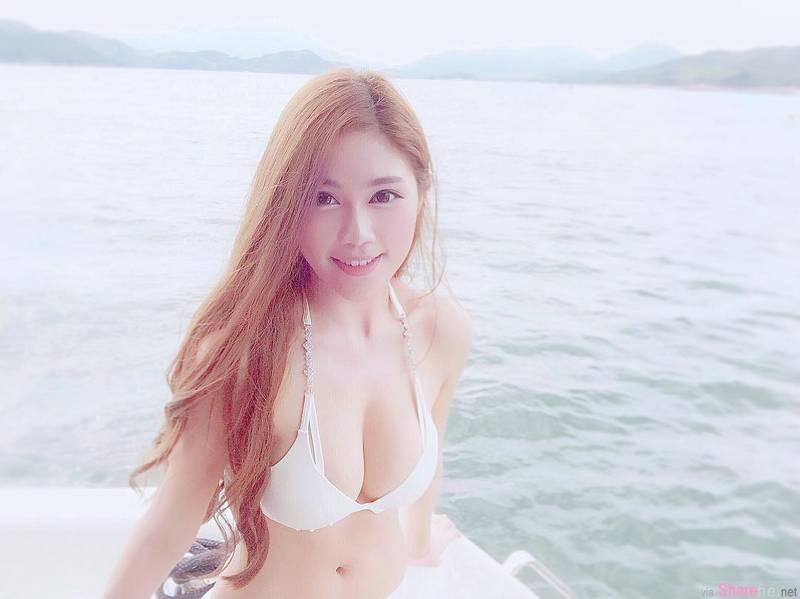 香港正妹Miky Cheng,比基尼展现惊人上围