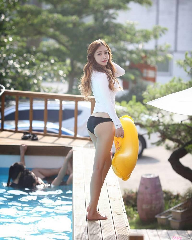 韩国正妹Jin Jin,紧身运动双脚夹篮球性感火爆