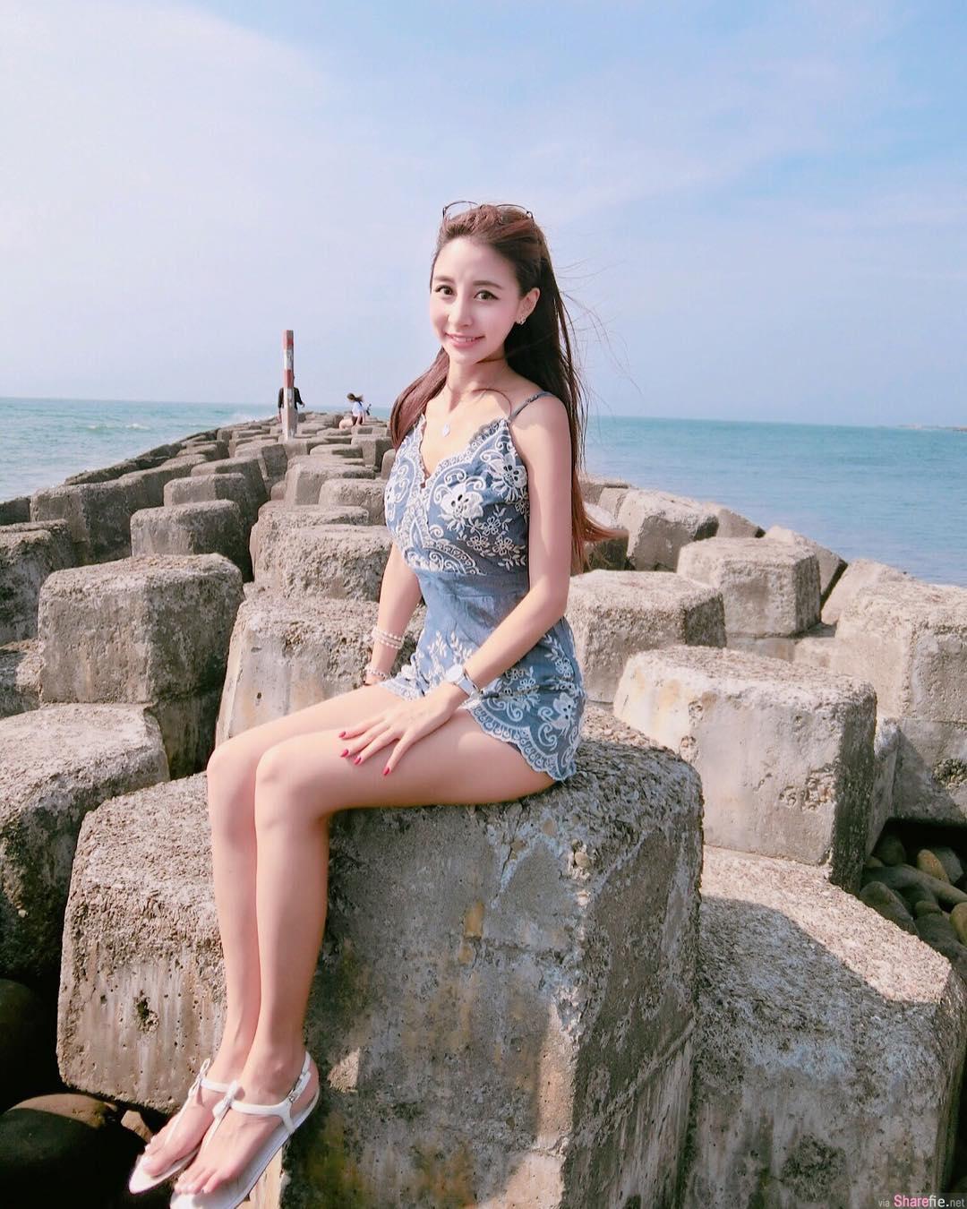 台湾正妹空姐瑞塔儿,网友:千年一遇的美女