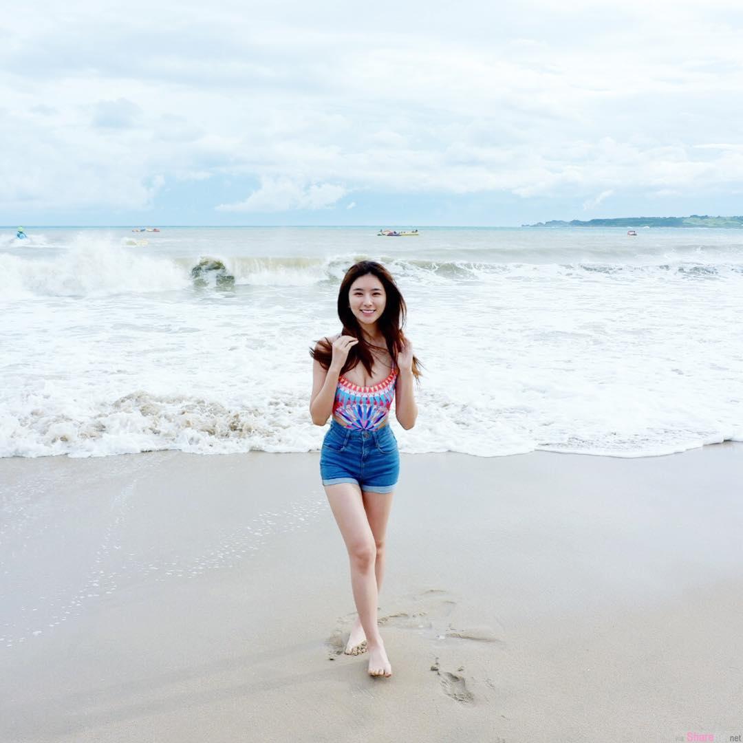 大马正妹蔡安琪,沙滩上最振奋人心的不是比基尼是微笑
