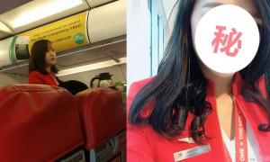 他po了一张「这一辈子看过最美的空姐」, 网友:你第一次坐飞机吧