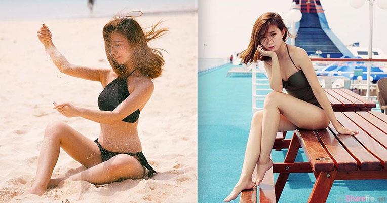 大马长腿正妹,沙滩玩沙结果沙子都跑进她的...