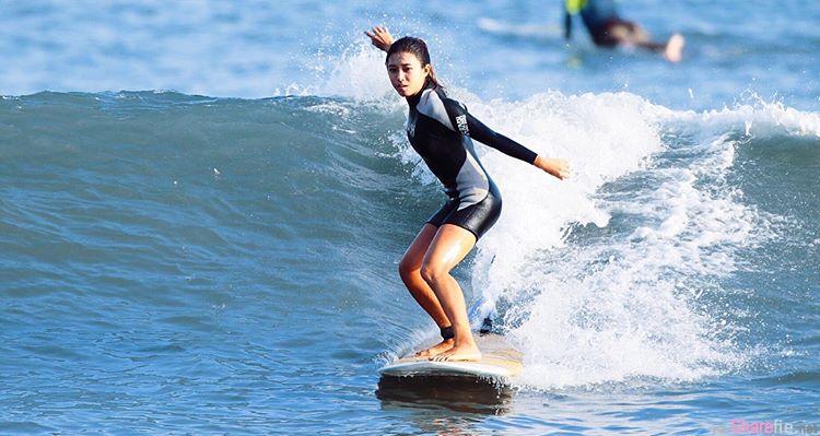 超美阳光少女Jean Shen,健康古铜肌清新自然风