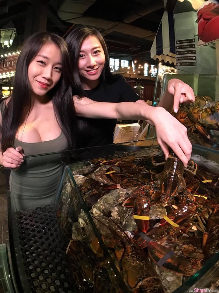 龙虾好吃吗? 美食猎人找来正妹一起推荐龙虾,但网友的焦点却是...