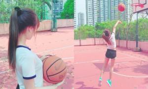 篮球场上发现有正妹,姿势100分,转过身网友通通恋爱了