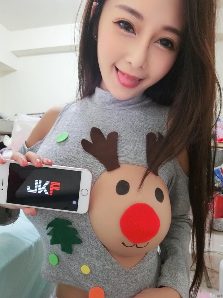 台湾女直播主晒「麋鹿奶,网友:这只鹿吃太胖了