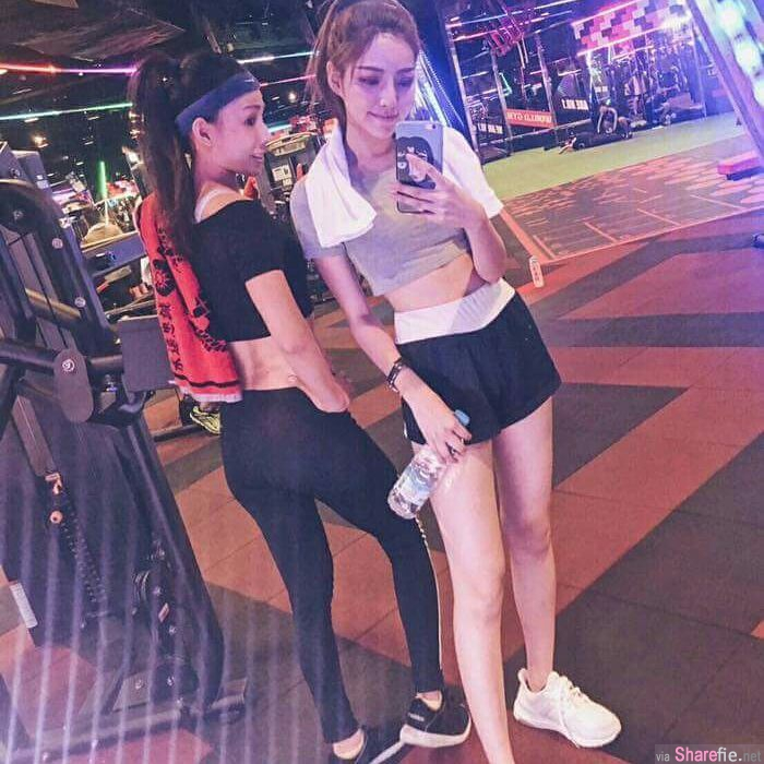 超美姐妹花,姐姐是健身教练,妹妹是女模,基因太强大
