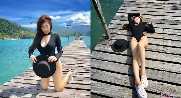 泰国正妹性感比基尼,开叉高到不知该看哪边