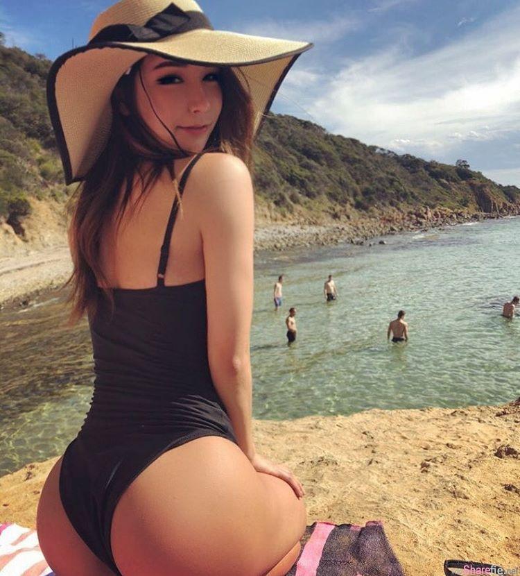 韩国正妹,浑圆曲线身材超惹火