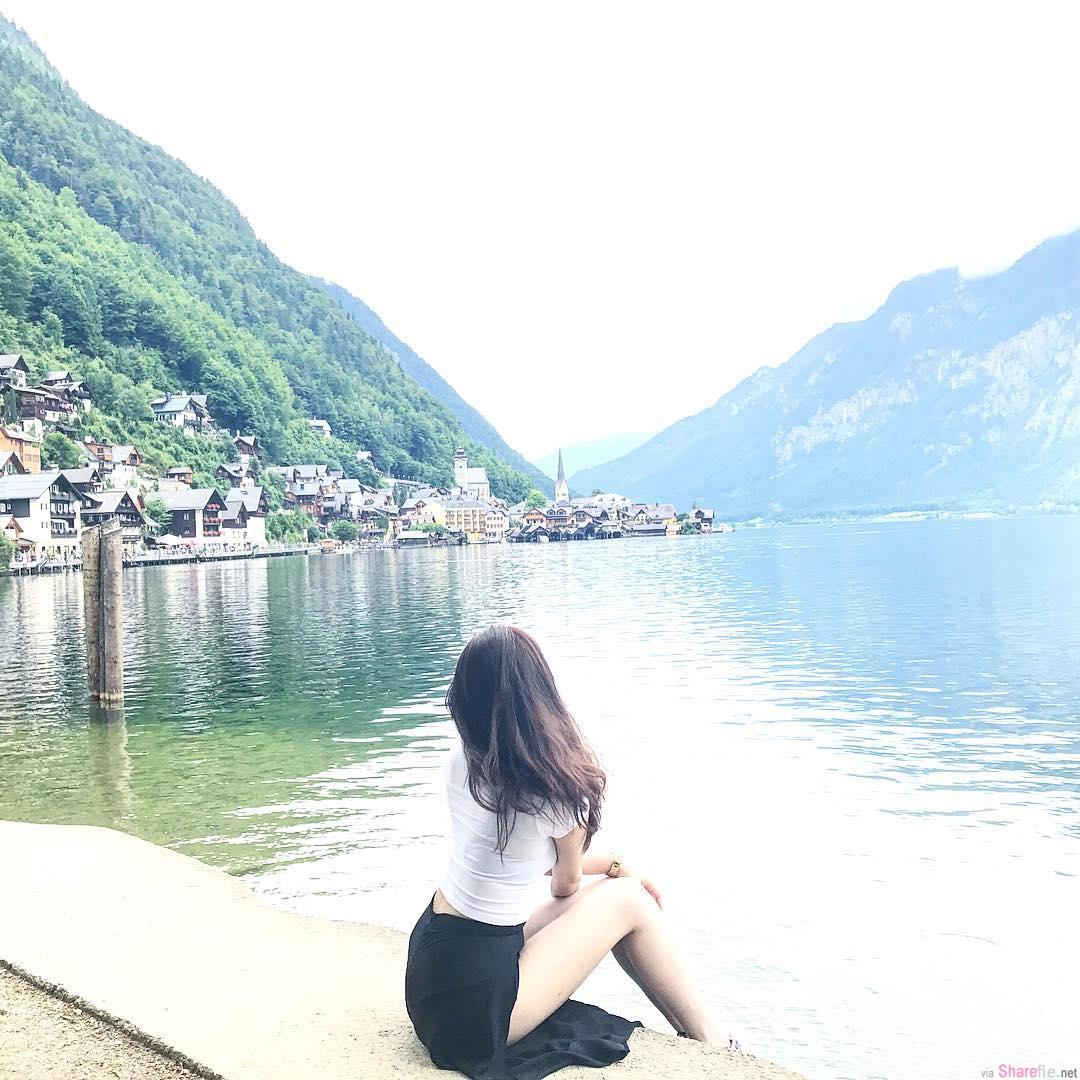湖边发现长腿正妹,转过身...瞬间恋爱了