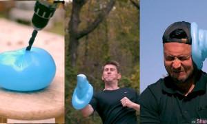 慢镜头拍摄水球爆破一瞬间,吸引千万网友