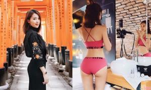 大马正妹Joanne Ng,粉红比基尼秀出性感S曲线
