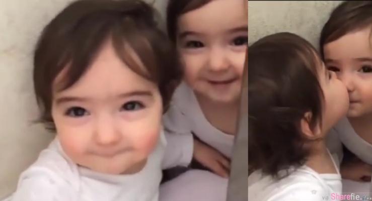 超可爱俄罗斯双胞胎,完全被脸蛋融化