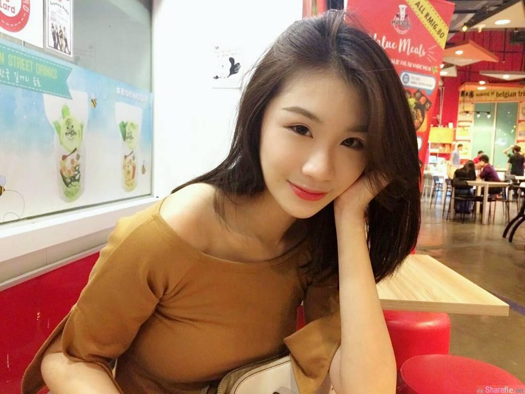 大马正妹Michelle Lim,雪白迷人
