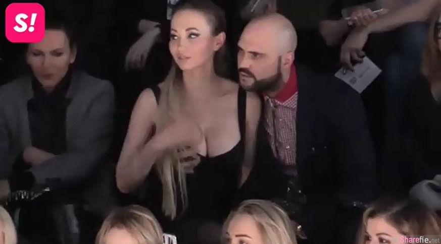 俄罗斯女模与男主持遭偷拍,边看秀边做「这件事」,网:有那么痒吗