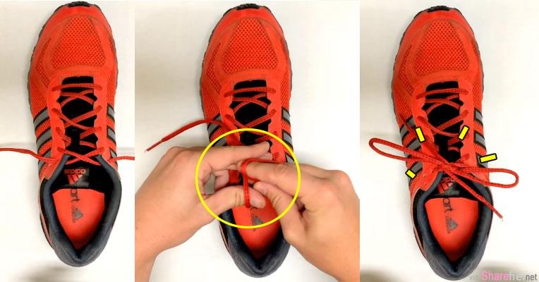 史上最快「绑鞋带方法」