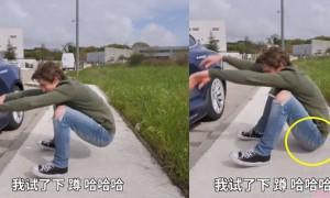 原来老外无法亚洲蹲,外国人实测一蹲全跌在地