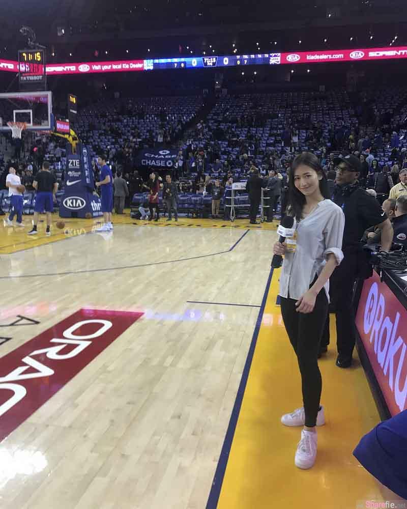 神出NBA採访记者,原来是美尻女王