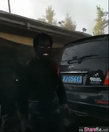 修车技工遭浓浓黑烟喷脸,下一秒变整张脸只剩眼白和牙齿...