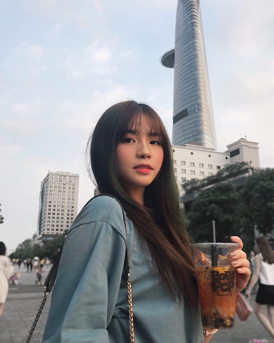 越南高中生正妹Mai Diz,甜美可爱,紧緻传统制服好迷人