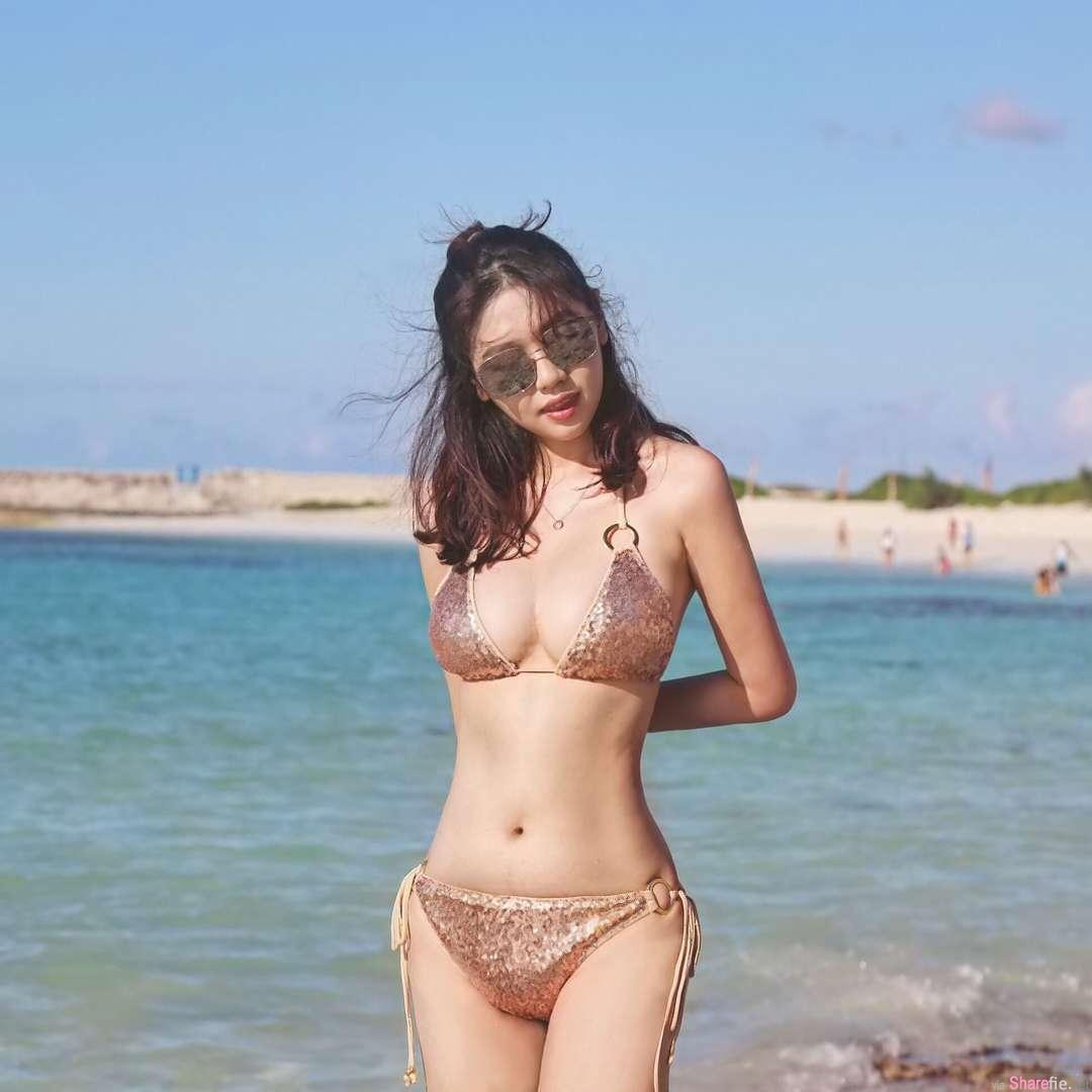 神级正妹Cindy Huang,海边戏水短短10秒影片让网友鼻血狂喷