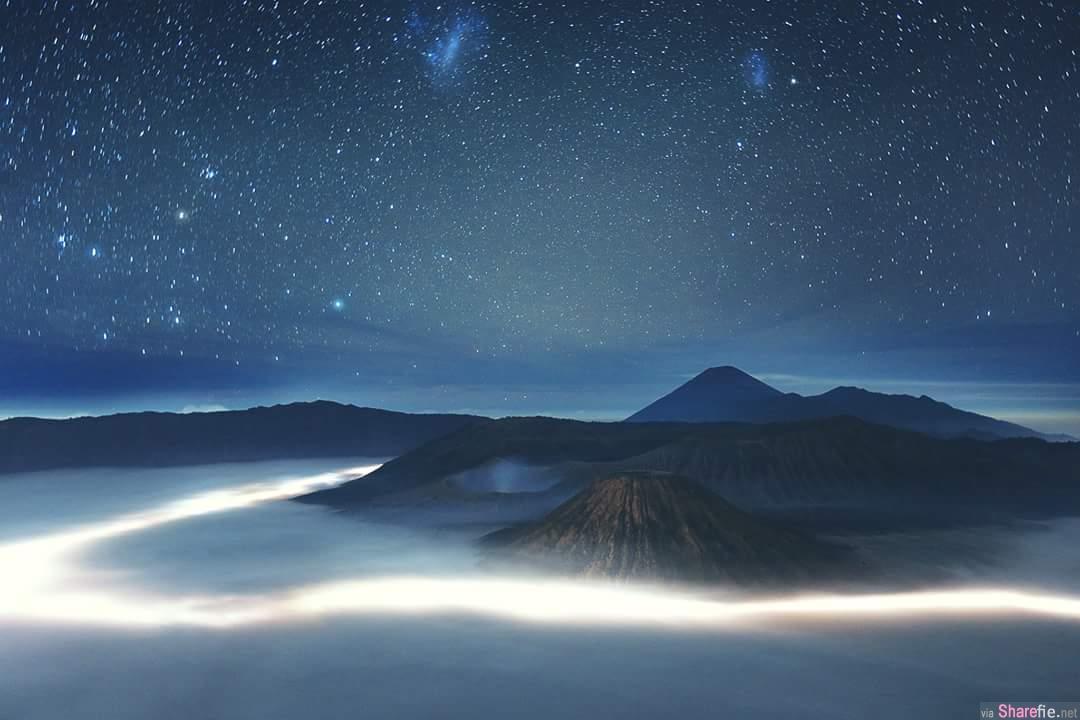 想不到要去哪里玩?印尼火山旅游攻略,繁星的夜晚美到不行