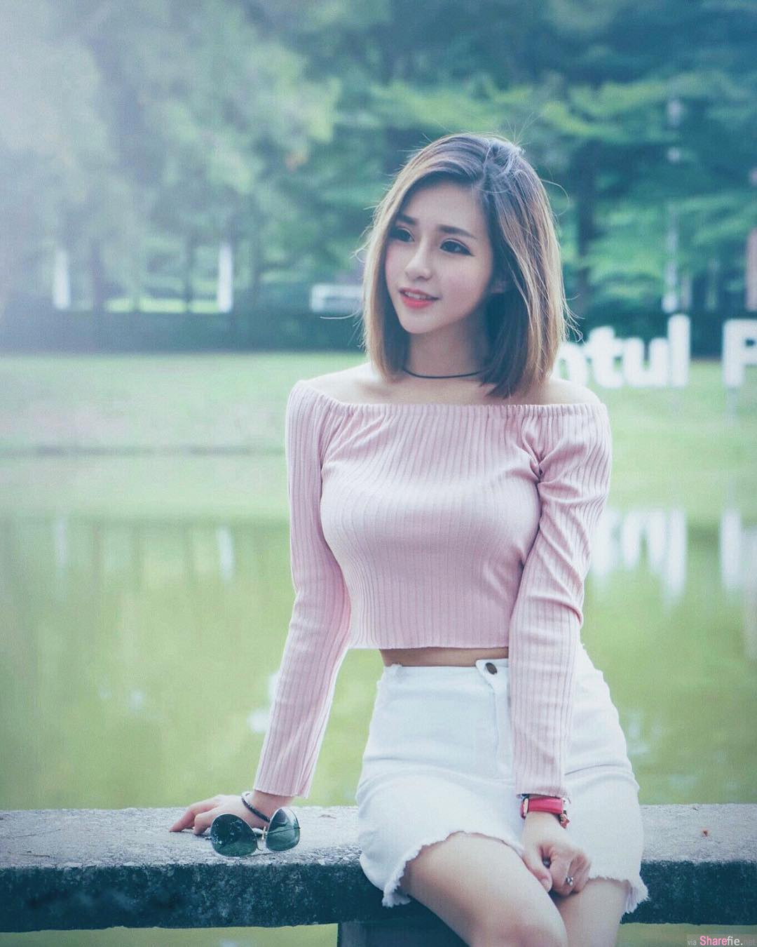 大马正妹Mango Liew,女神般颜值让人一秒就爱上她