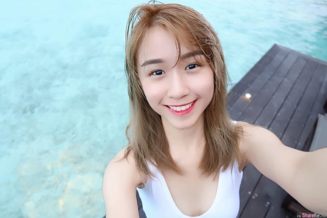 大马正妹Isabelle Kwan,迷人微笑