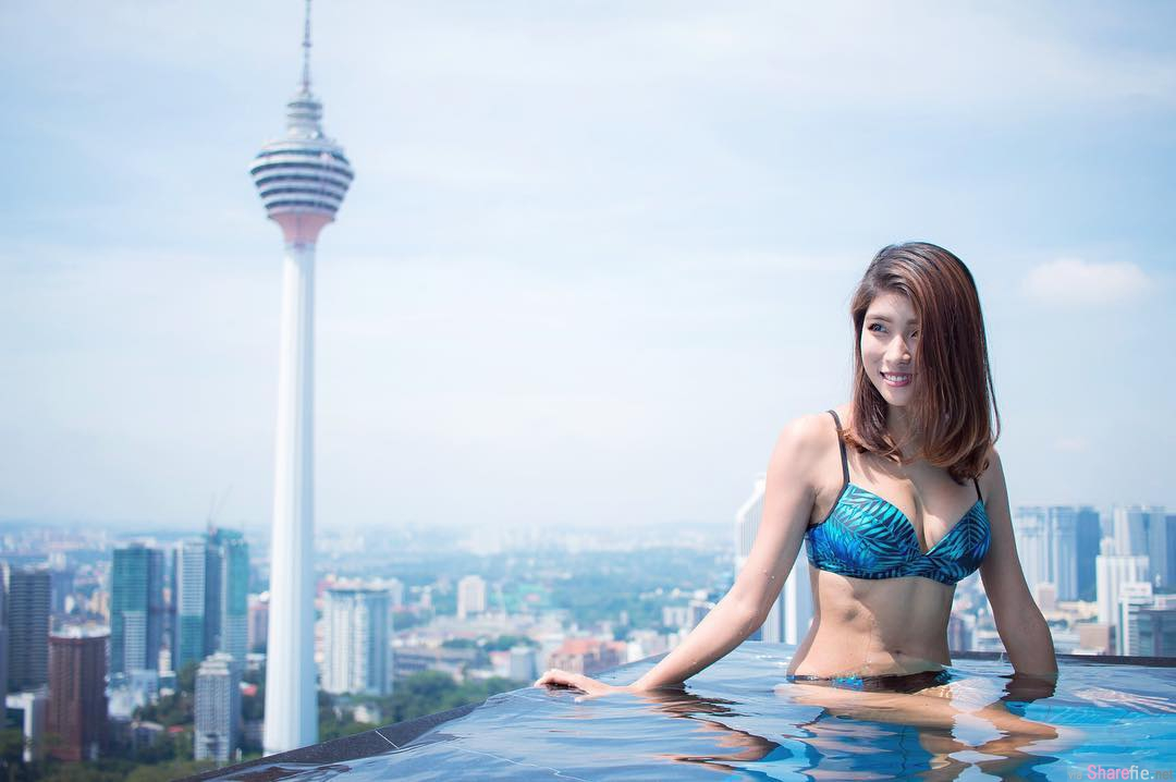 大马女模PiXie Goh,KL地标打卡大秀凹凸身材