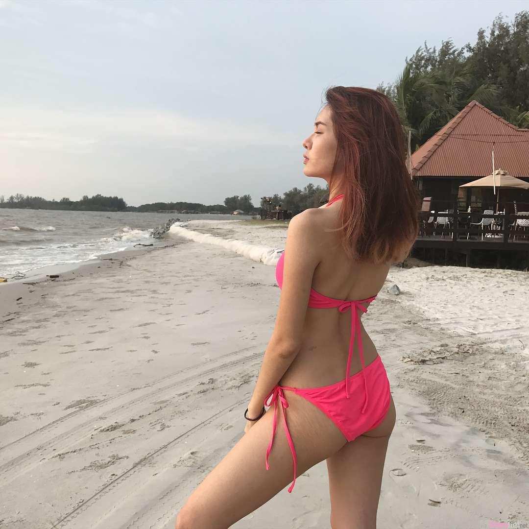大马长腿正妹Kellay Cherray,沙滩比基尼热翻天