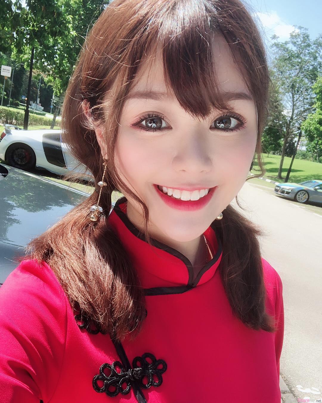 大马正妹Eve Khooa,笑容超甜还有一副好身材