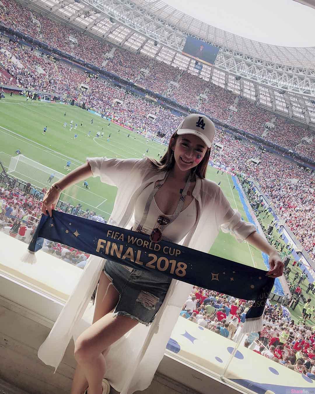 世杯决赛现场发现正妹,超兇上围惊艷网友:门票多少钱?
