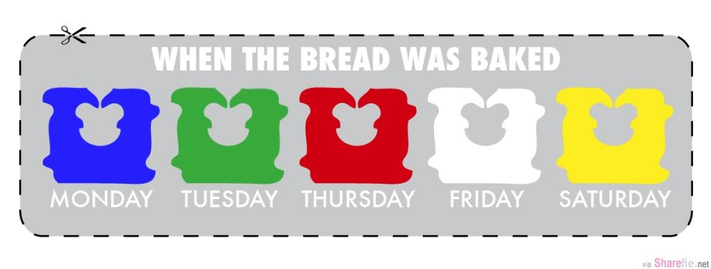 吃了几十年面包,原来面包夹的颜色是有意思的!