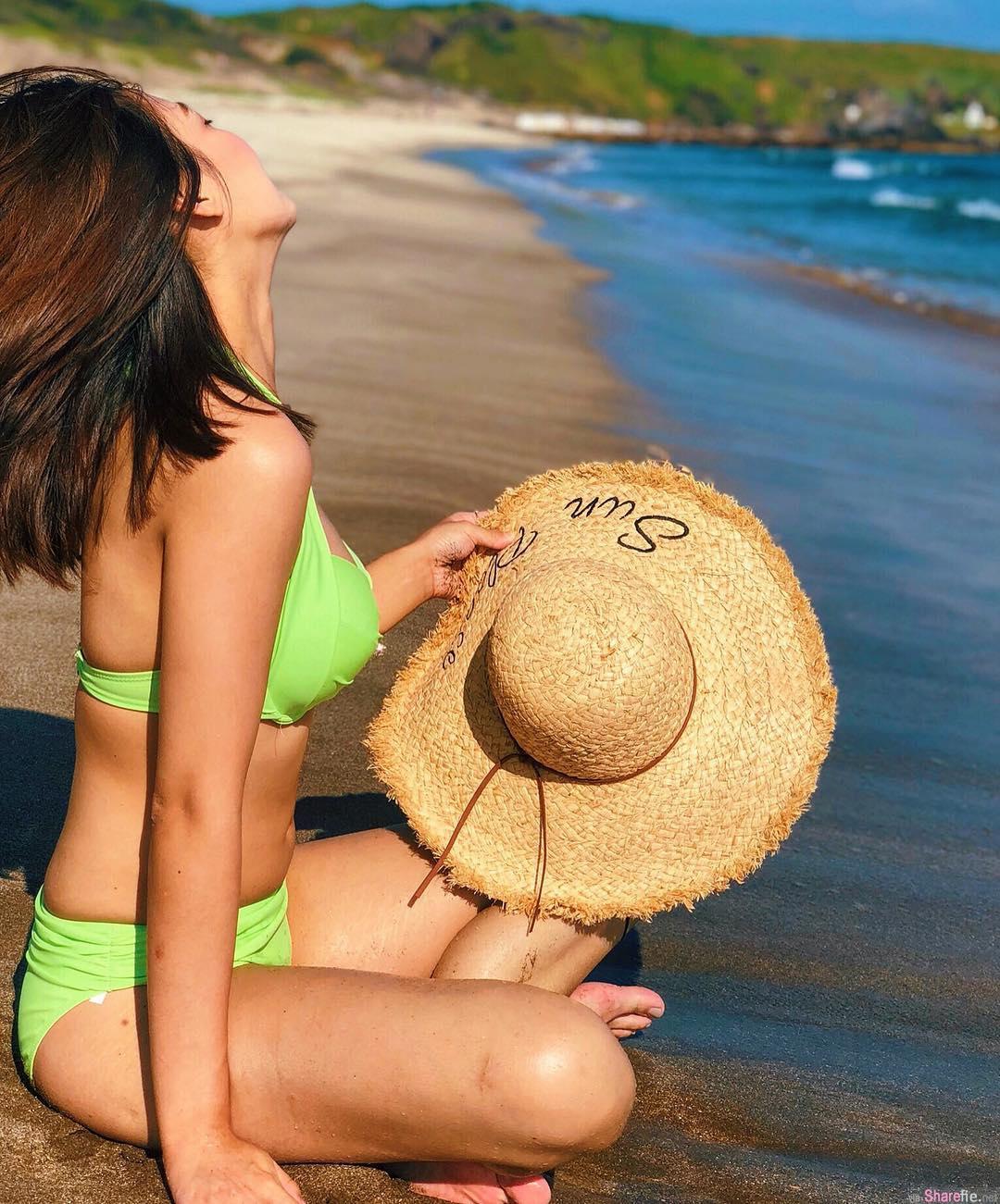 正妹Mia Tsao沙滩美拍性感比基尼,画面太美网友不敢直视
