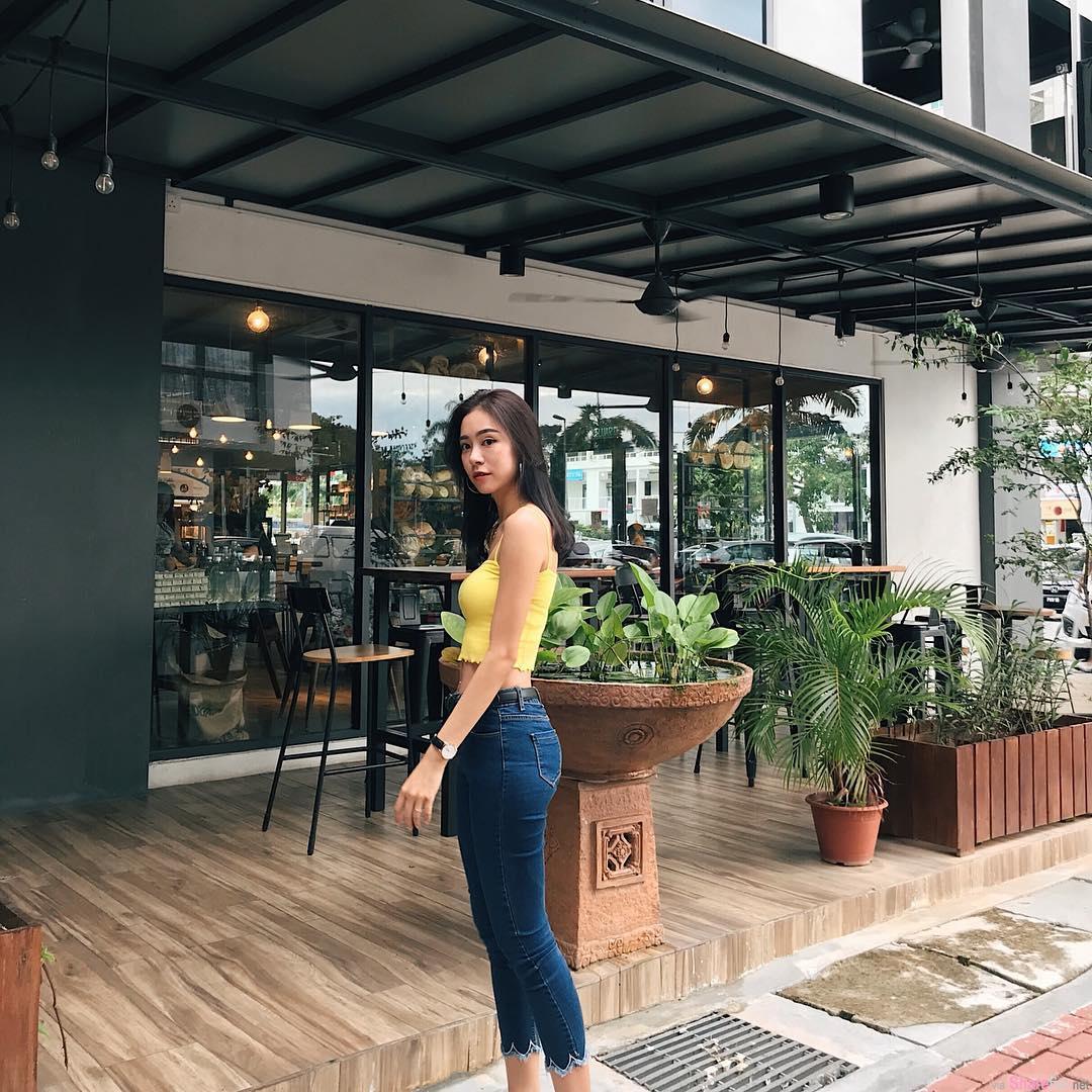 大马槟城正妹Eunice Qing,超狂马甲线