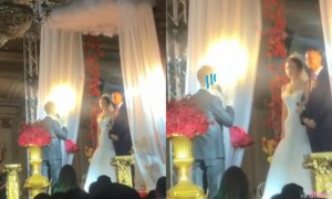 完蛋了!结婚典礼台上新郎竟然叫错名,老婆当「前女友」15秒出糗影片疯传