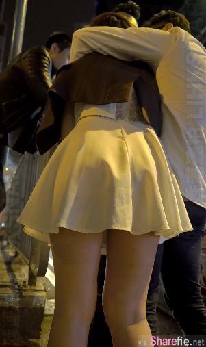短裙港妹喝醉遭2男当街捡尸影片疯传,网友:她没穿内裤