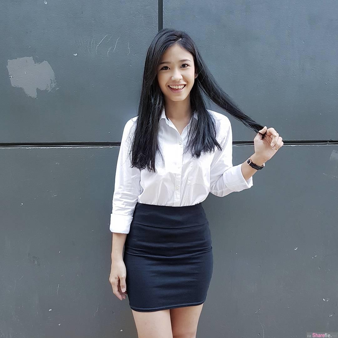 新加坡网红正妹李嫣儿,笑容甜美