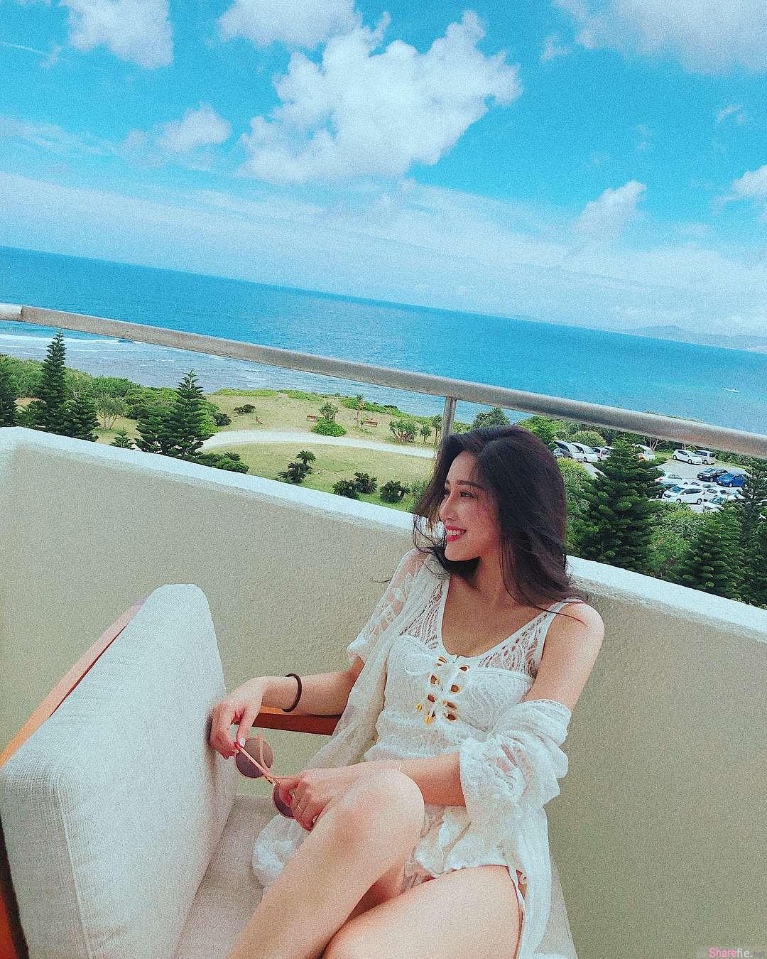 正妹小予日本沖縄旅游抱怨第一天就被晒黑,性感水蛇腰成焦点:每天都要很辣