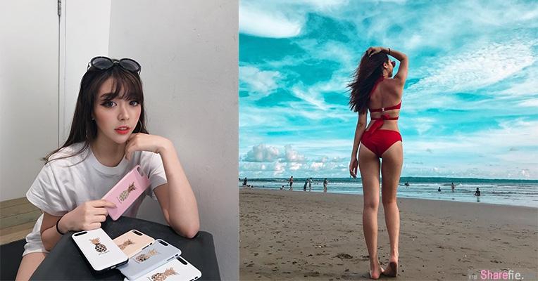 正妹Tracy巴厘岛度假,海滩美照这样拍大秀完美身材