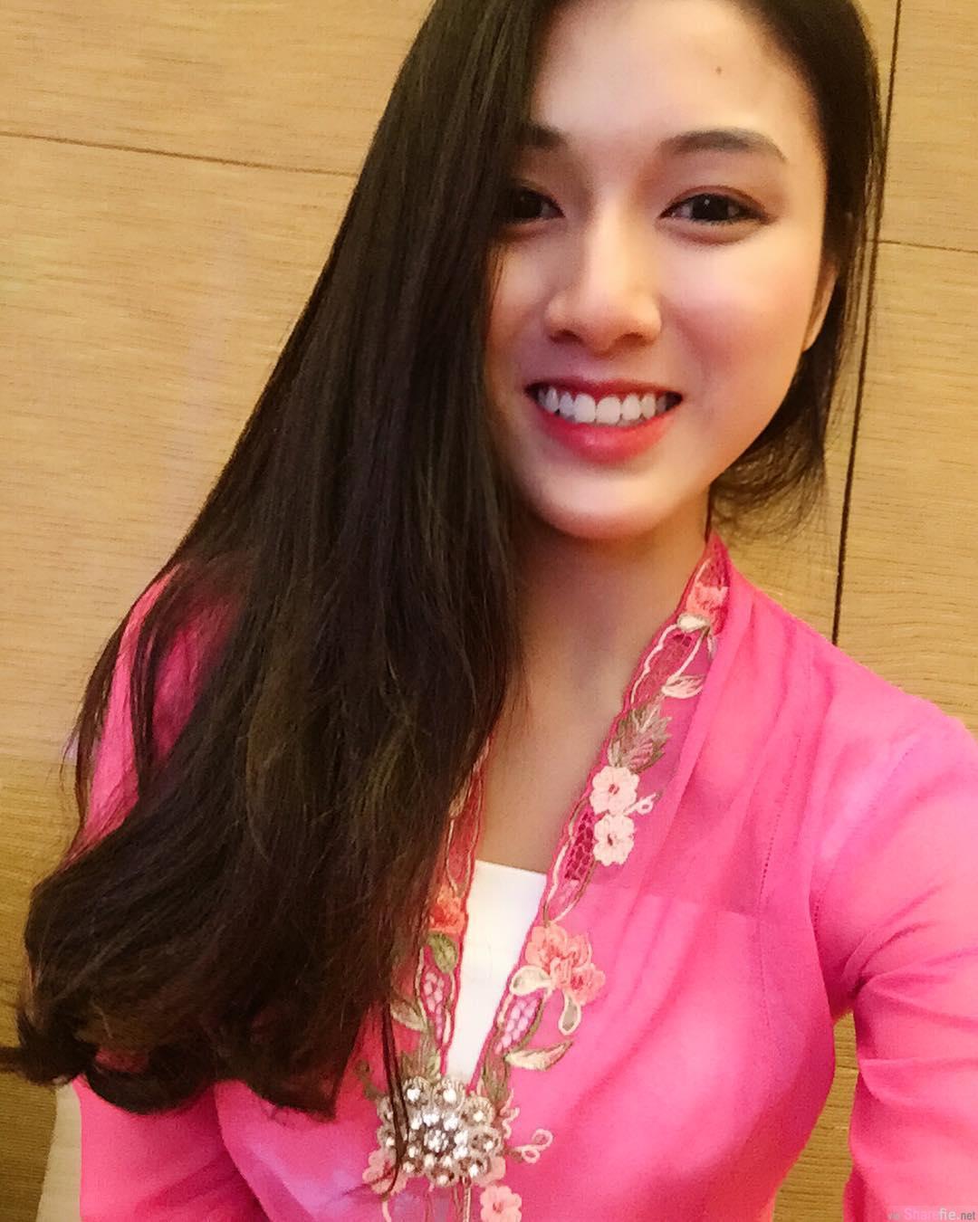 大马正妹Fiona清新甜美笑容,网友:以为她是钟嘉欣