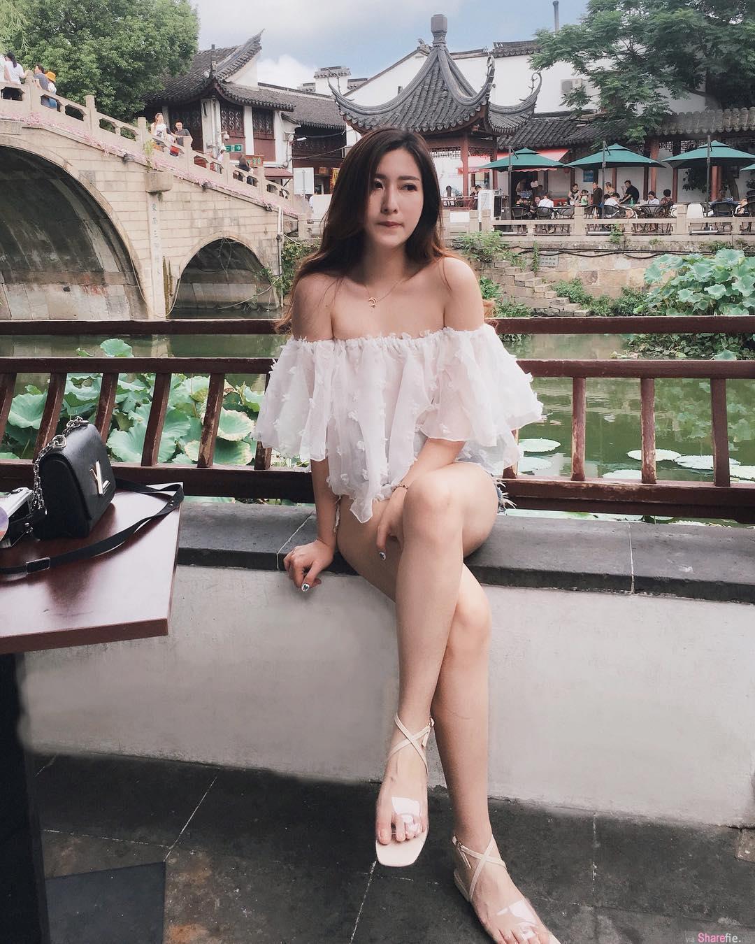 大马女神Jovin Chan,修长美腿秀出完美好身材