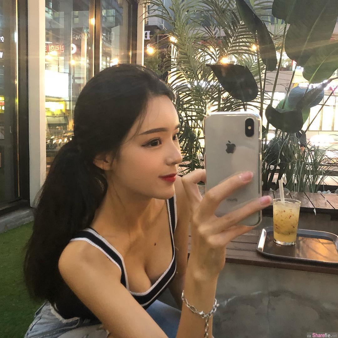 韩国正妹MIN JEONG透视紧身衣,侧身一看惊现超狂曲线