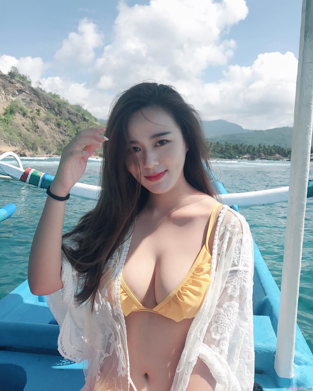 大马正妹Zacklyn Lee巴厘岛坐船出海,兇勐上围船夫差一点迷路